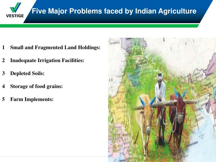 Five Major Problems faced by Indian Agriculture