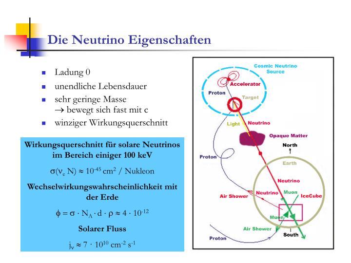 Die Neutrino Eigenschaften