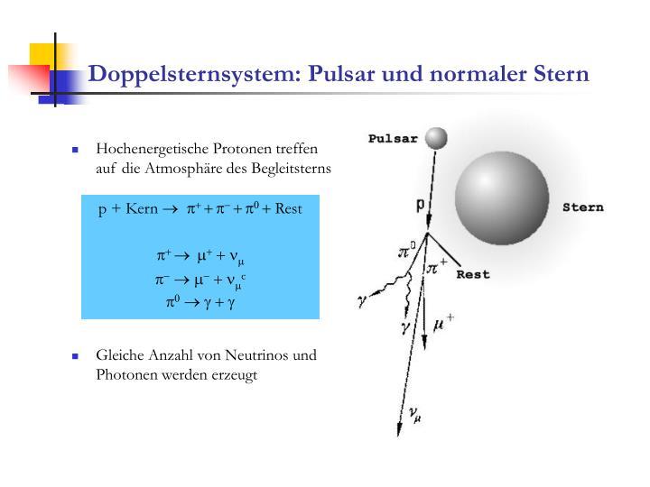 Doppelsternsystem: Pulsar und normaler Stern