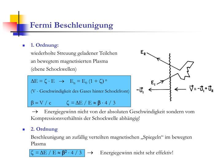 Fermi Beschleunigung