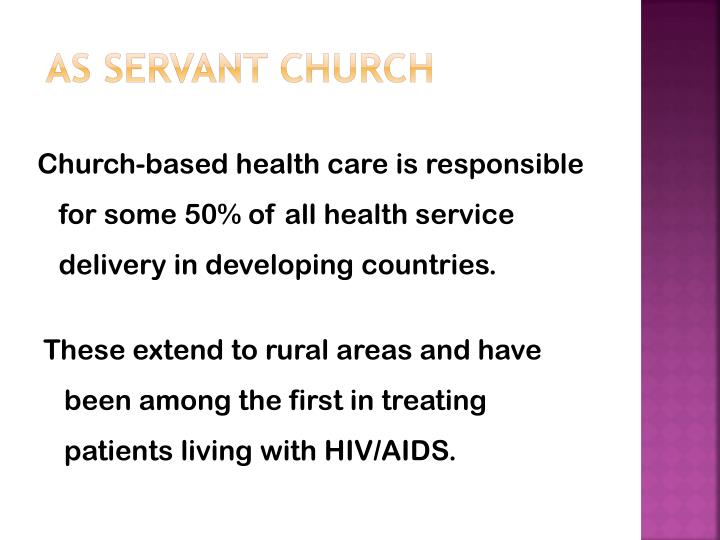 As Servant Church