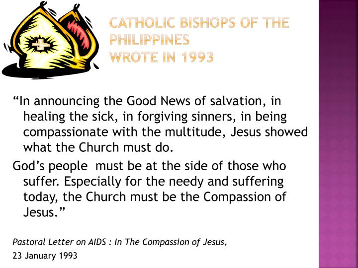 Catholic bishops of the philippines wrote in 1993