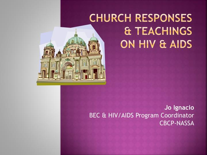 church responses teachings on hiv aids