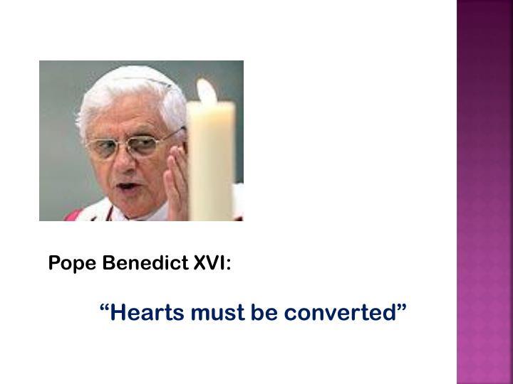 Pope Benedict XVI: