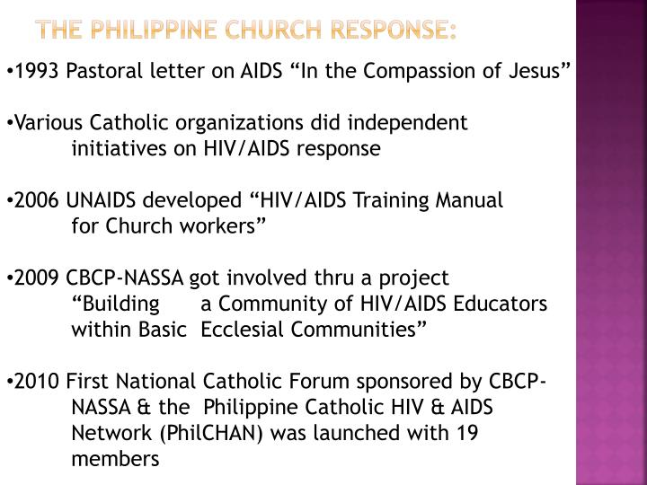 The Philippine Church Response: