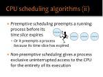 cpu scheduling algorithms ii