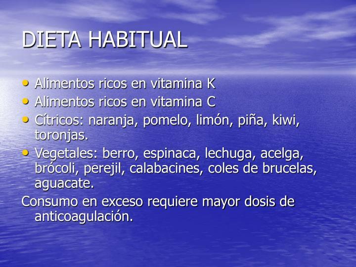 DIETA HABITUAL
