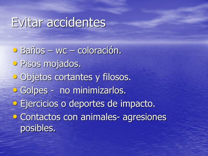 Evitar accidentes