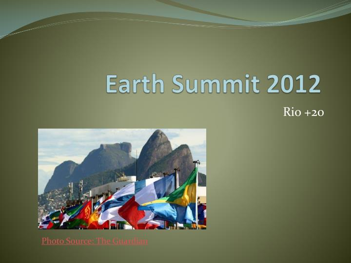 Earth summit 2012