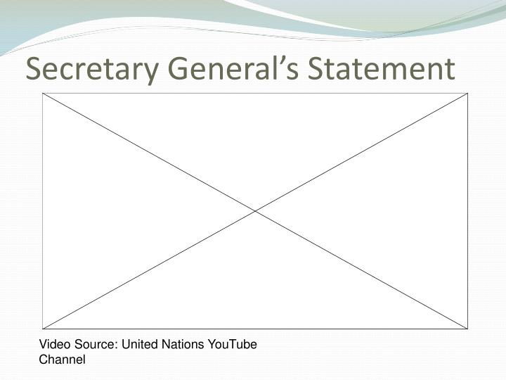 Secretary general s statement