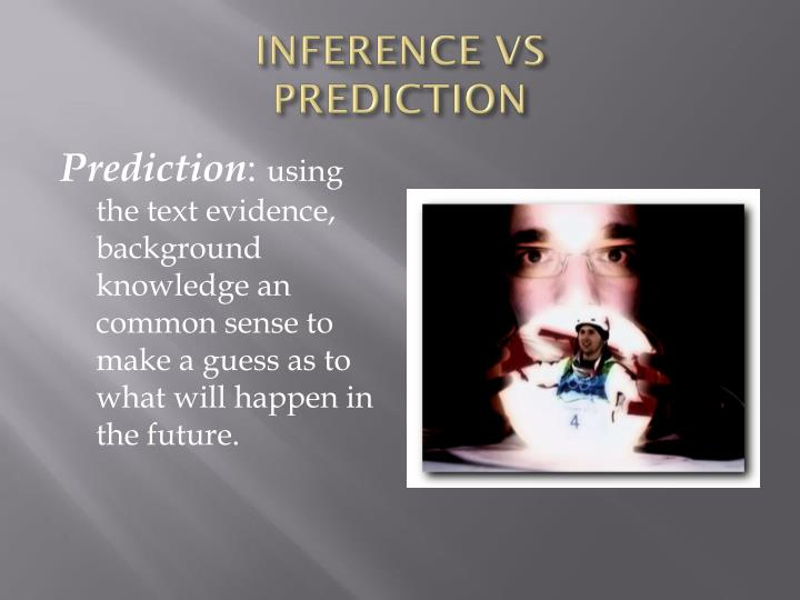 Inference vs prediction1