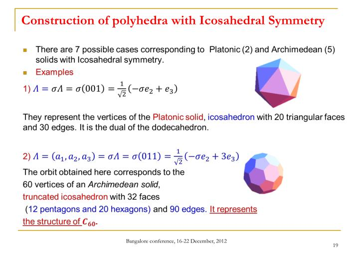 Construction of polyhedra with Icosahedral Symmetry