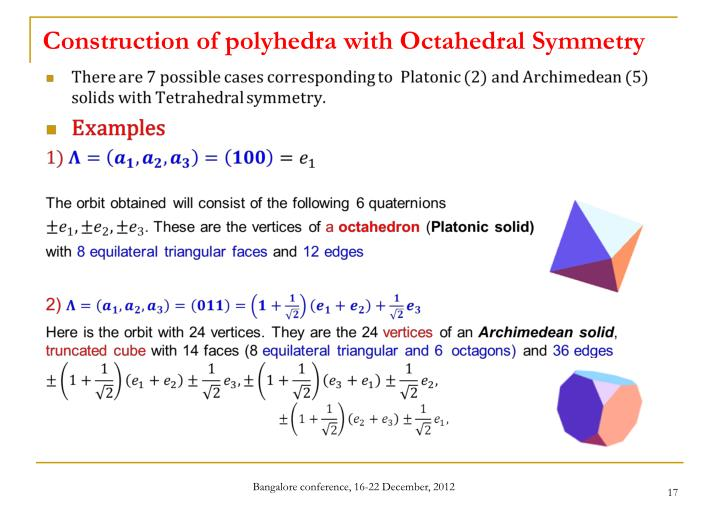 Construction of polyhedra with Octahedral Symmetry