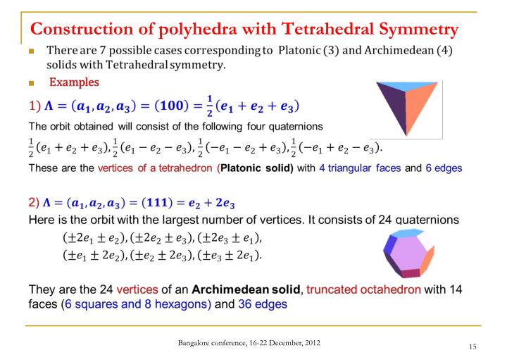 Construction of polyhedra with Tetrahedral Symmetry