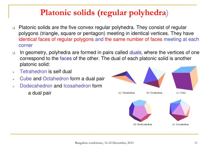 Platonic solids (regular polyhedra