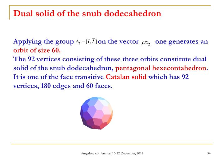 Dual solid of the snub dodecahedron