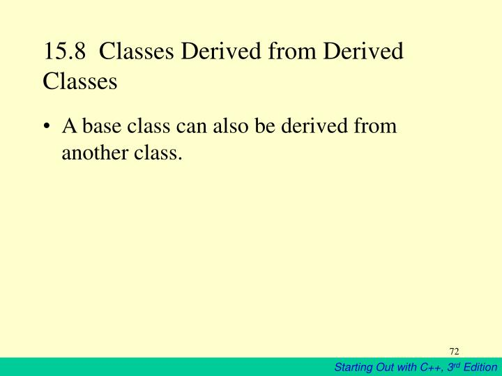 15.8  Classes Derived from Derived Classes
