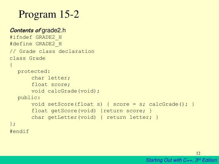 Program 15-2