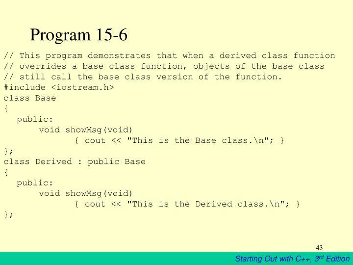 Program 15-6