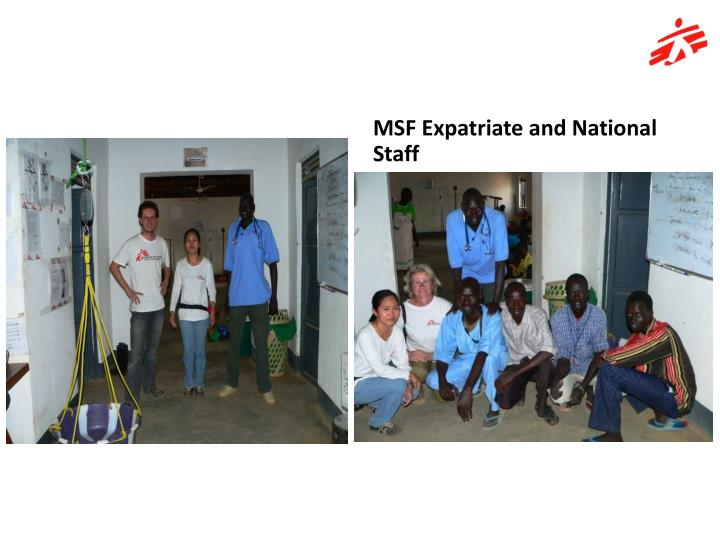 MSF Expatriate and National Staff