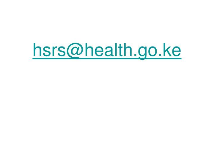 hsrs@health.go.ke