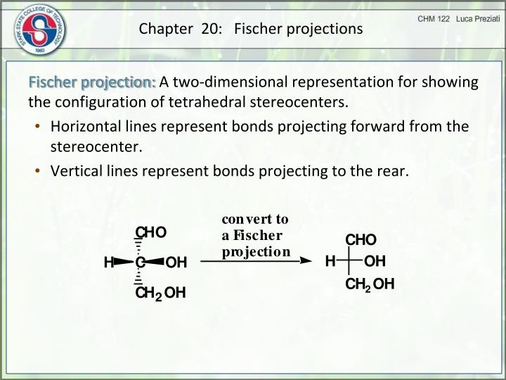 Chapter  20:   Fischer projections