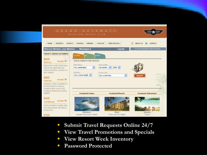 Submit Travel Requests Online 24/7