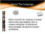 name the language29