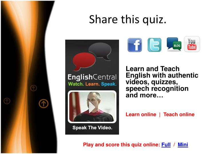 Share this quiz.