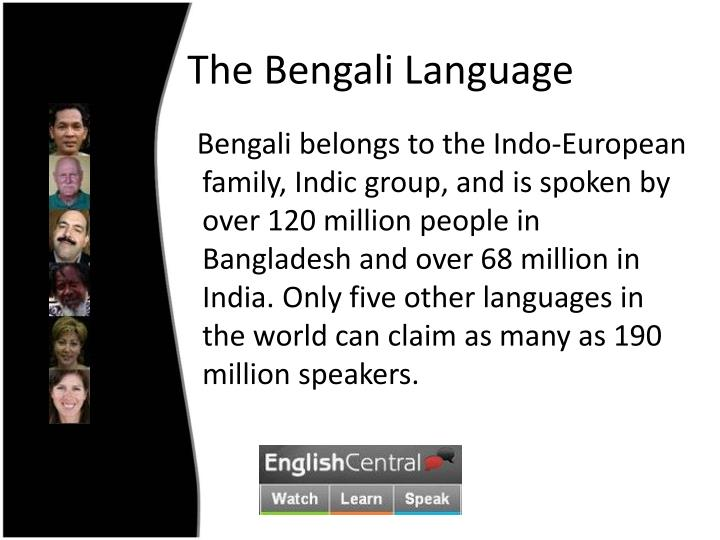 The Bengali Language