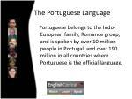 the portuguese language