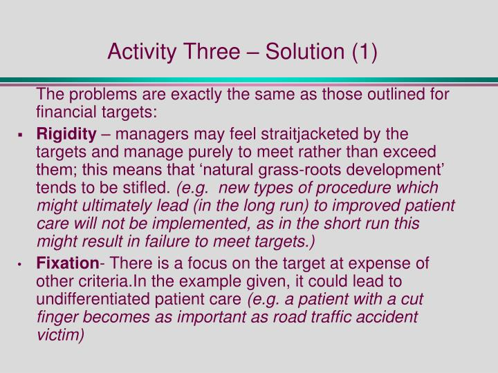 Activity Three – Solution (1)