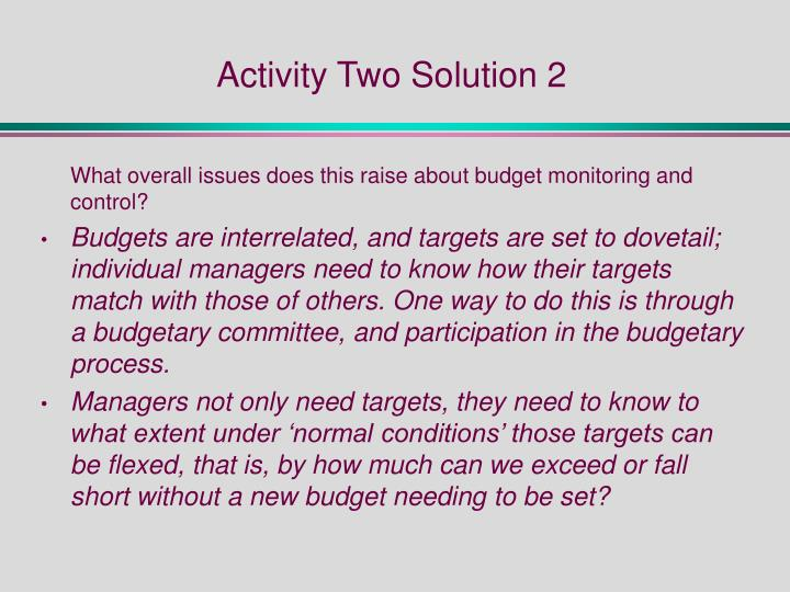 Activity Two Solution 2