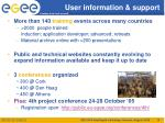 user information support