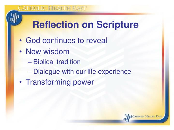 Reflection on Scripture