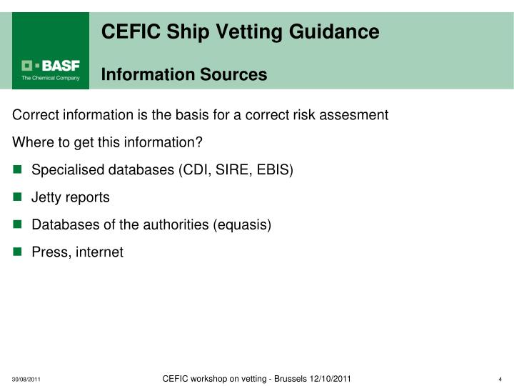 CEFIC Ship Vetting Guidance