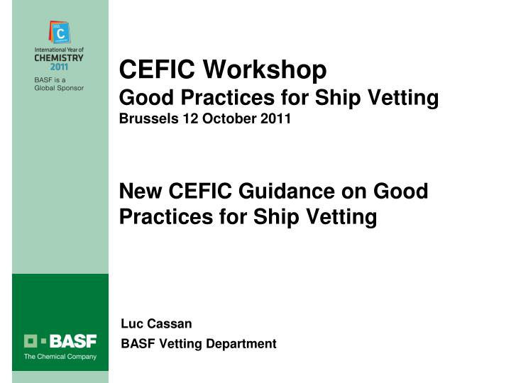 CEFIC Workshop