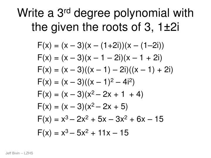 Write a 3