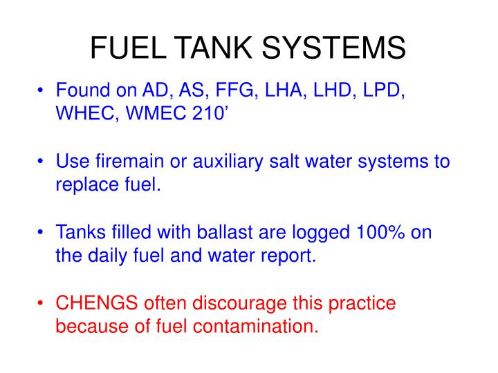 FUEL TANK SYSTEMS