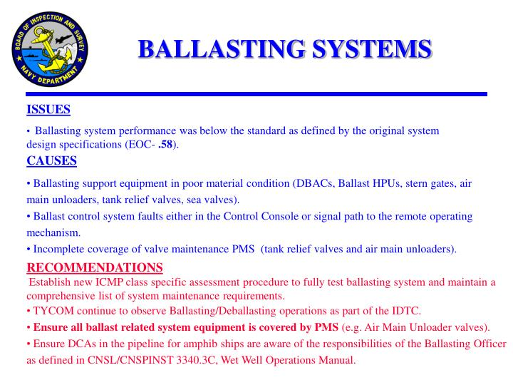 BALLASTING SYSTEMS