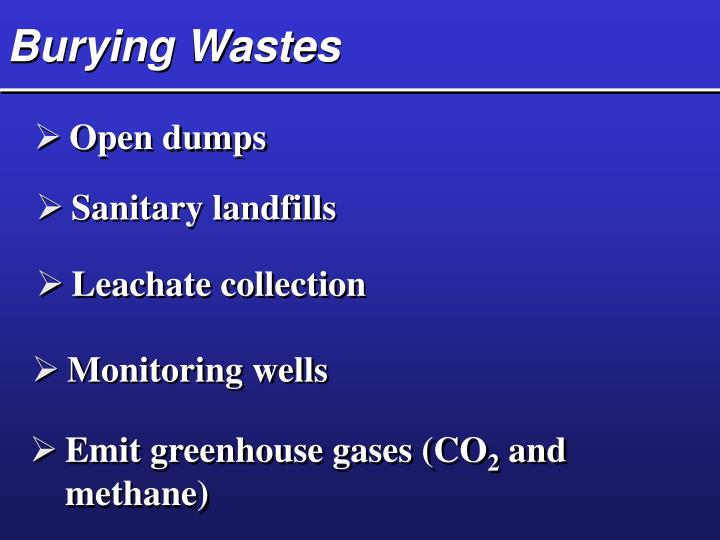 Burying Wastes