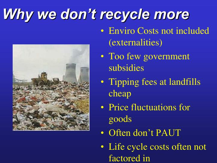 Why we don't recycle more