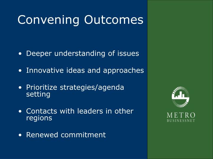 Convening Outcomes