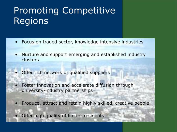 Promoting Competitive Regions