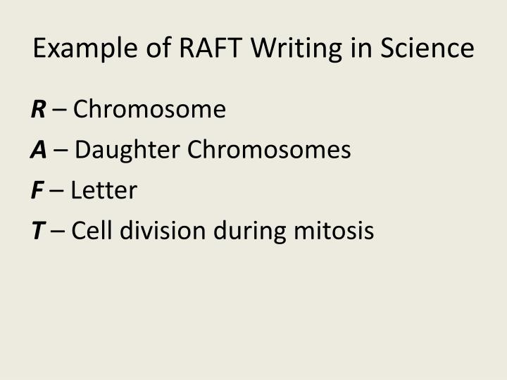 Example of RAFT Writing in Science