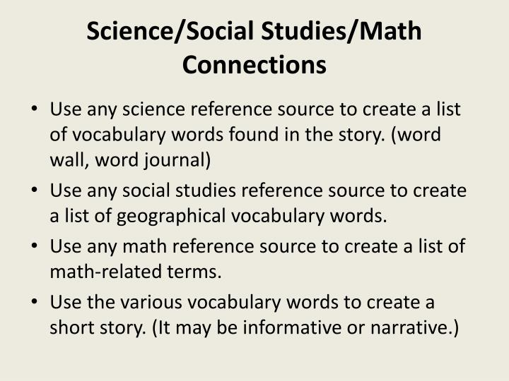 Science/Social Studies/Math Connections