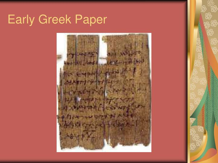 Early Greek Paper