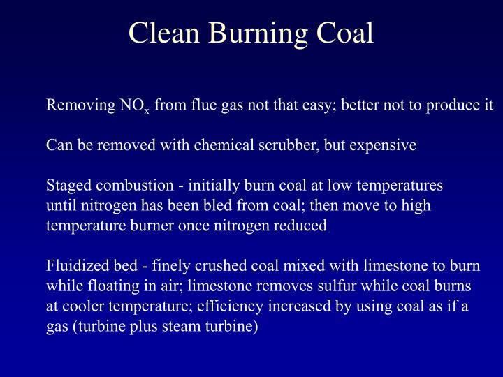 Clean Burning Coal