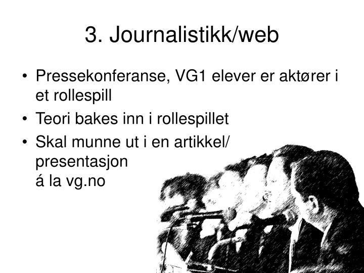 3. Journalistikk/web