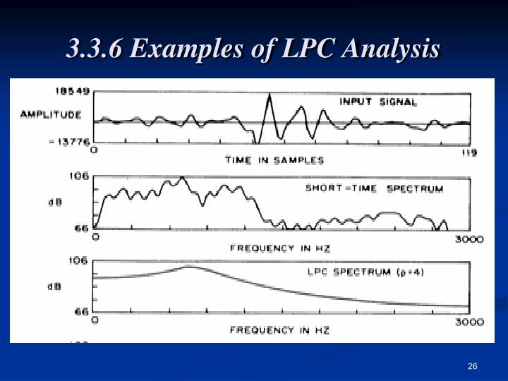 3.3.6 Examples of LPC Analysis